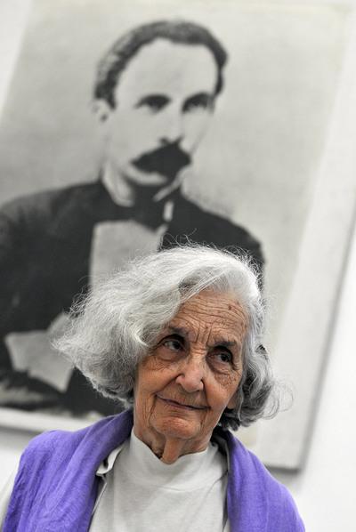 La poetisa Fina García Marruz