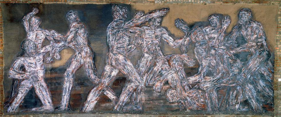 Gigantomaquia. El tema de la violencia está en la obra de Golub. (Cortesía de The State of Nancy Espero y Stephen, Philip y Paul Golub).
