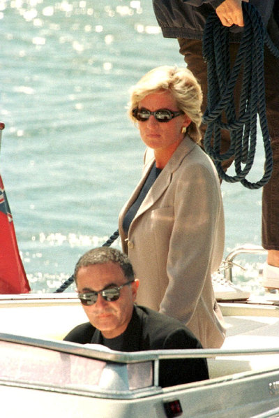 La princesa Diana y Dodi al Fayed