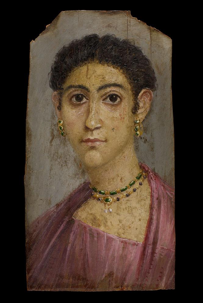 La muestra del Museo Arqueológico reúne las que son consideradas las primeras representaciones reales de personas que se conservan. Estos retratos se colocaban sobre sus momias en el Egipto romano.