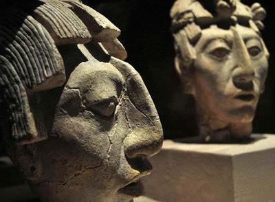 Máscaras Mayas expuestas en el Museo Quay Branly de París-