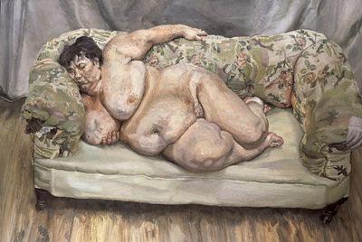 El pintor Lucian Freud, junto a su madre.- DAVID MONTGOMERY (GETTY)
