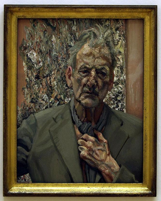Autorretrato. Pintura titulada 'Autorretrato, reflexión', de Lucien Freud, expuesta en Londres. MATTHEW FEARN (AP)