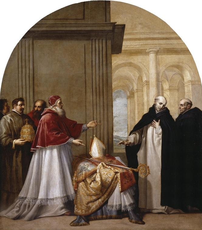 San Bruno renuncia al arzobispado. Tras la visita al papa Urbano II y la cesión del arzobispado en el Reggio di Calabria (Roma), san Bruno rechaza su cargo y se dedica de pleno a la vida monacal en la cartuja.