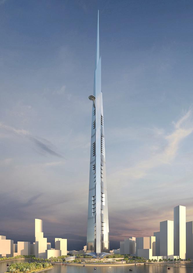 La torre será parte de un complejo que se ha denominado Ciudad del Reino al norte de la ciudad de Jeddah, en Arabia Saudita. ADRIAN SMITH + GORDON GILL ARCHITECTURE