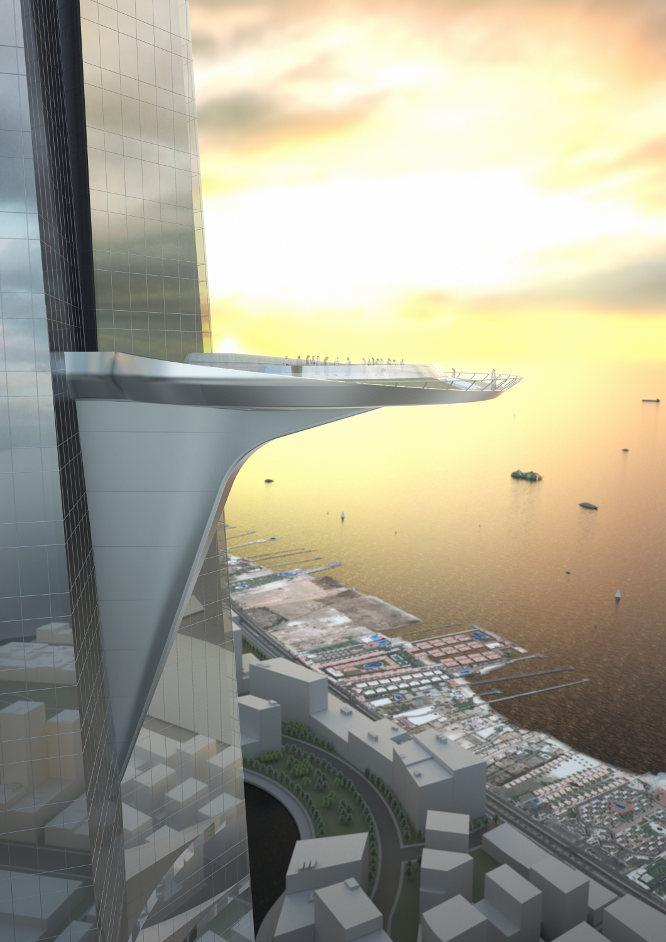 El complejo contará con una terraza de unos 30 metros de diámetro. ADRIAN SMITH + GORDON GILL ARCHITECTURE