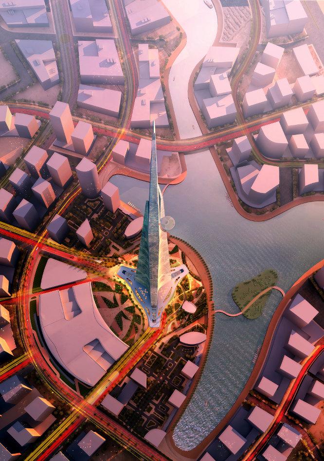 La torre con más de 1.000 metros de altura será la más alta del mundo. ADRIAN SMITH + GORDON GILL ARCHITECTURE