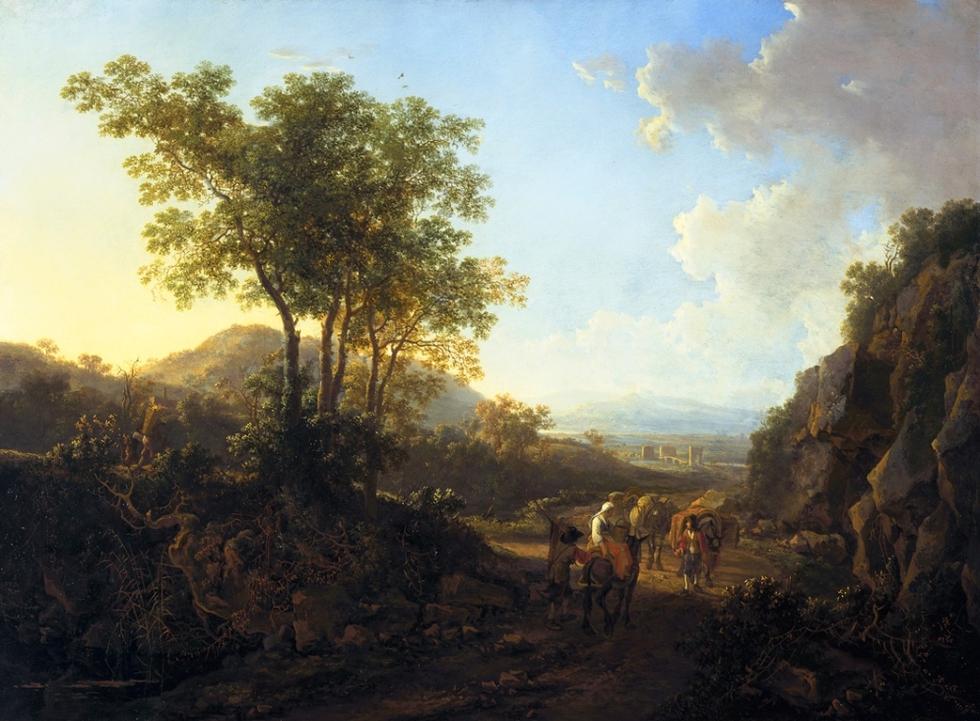 Paisaje italiano. Jan Both (c.1618-1652), 'Italian Landscape', c.1645. MAURITSHUIS MUSEUM