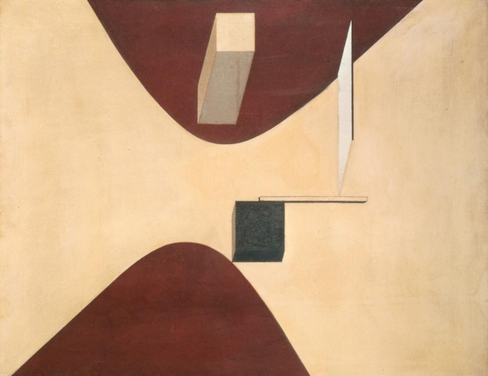 El Lissitzky (1890-1941), 'Proun P23', no. 6, 1919. MAURITSHUIS MUSEUM