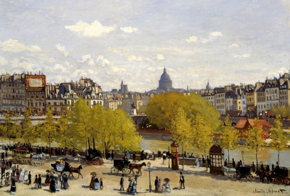 Muelle del Louvre. Claude Monet (1840-1926), 'Quai du Louvre', c.1867. MAURITSHUIS MUSEUM