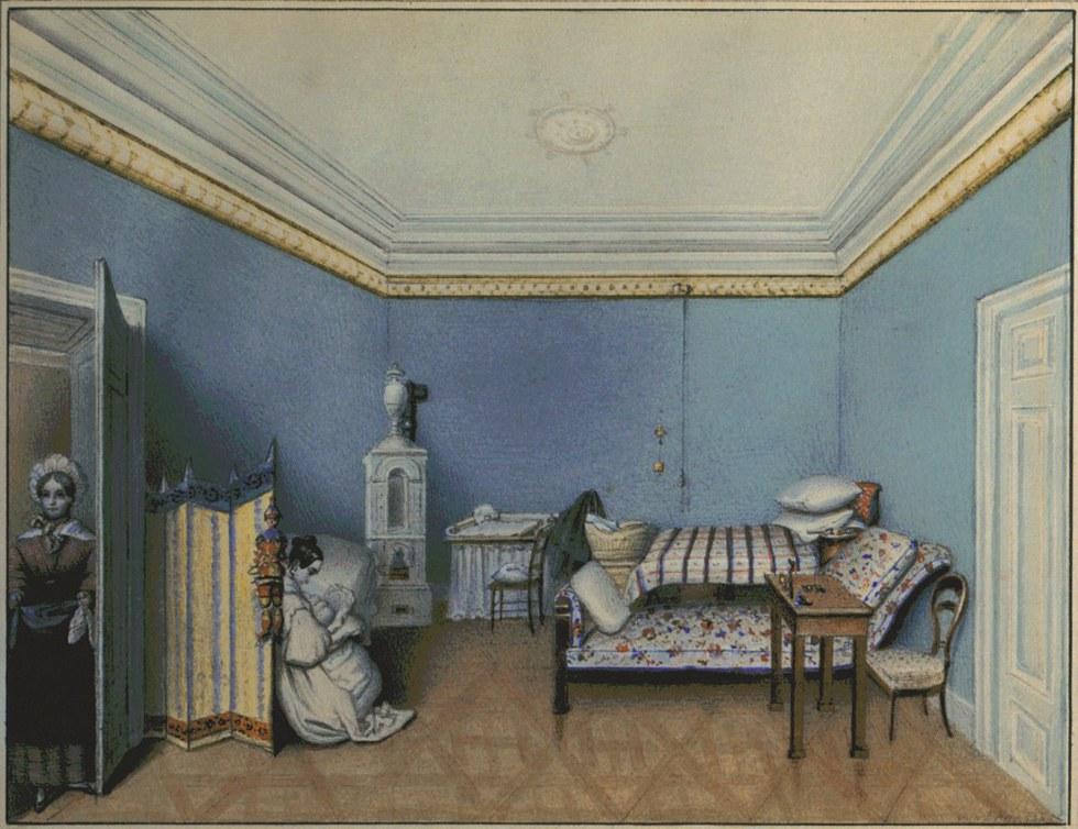 Interior de un dormitorio. MUSEO DEL ROMANTICISMO