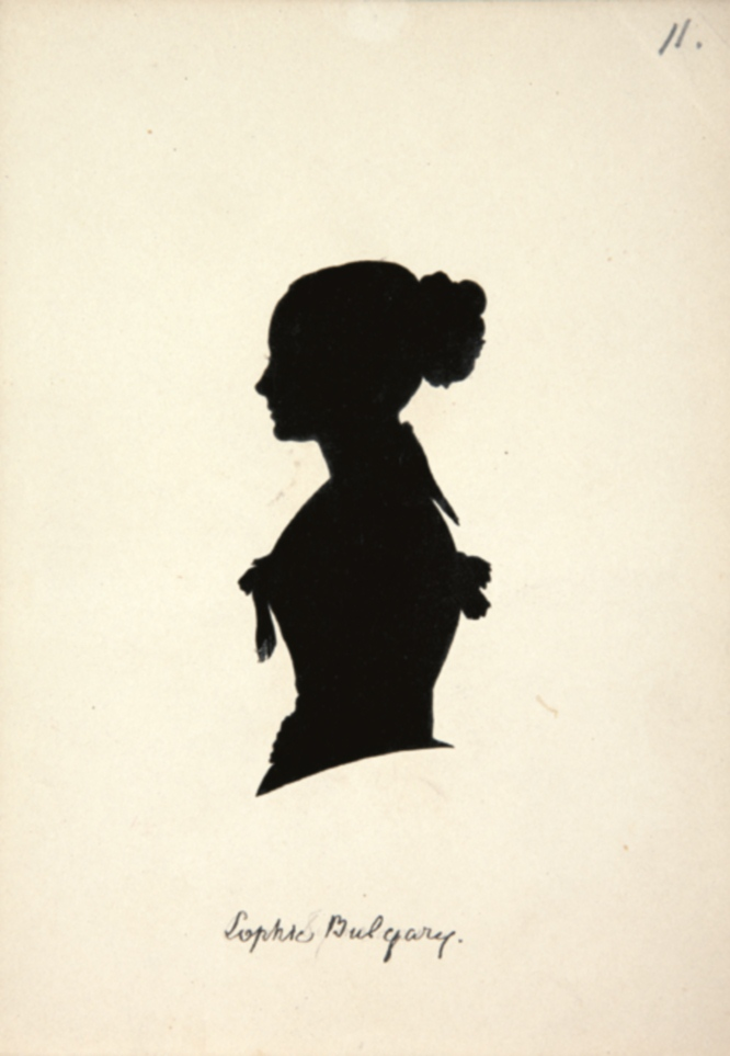 Silueta de Sofia Yakolevna de Bulgaria. MUSEO DEL ROMANTICISMO