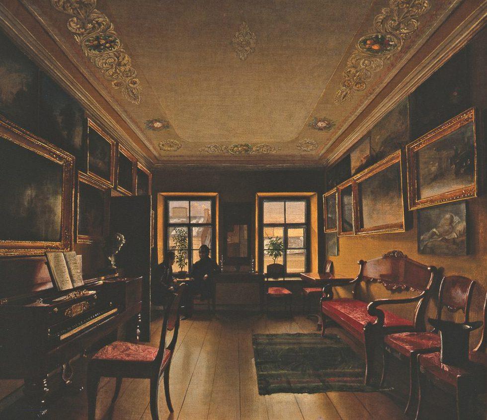 Interior de una sala de estar. MUSEO DEL ROMANTICISMO