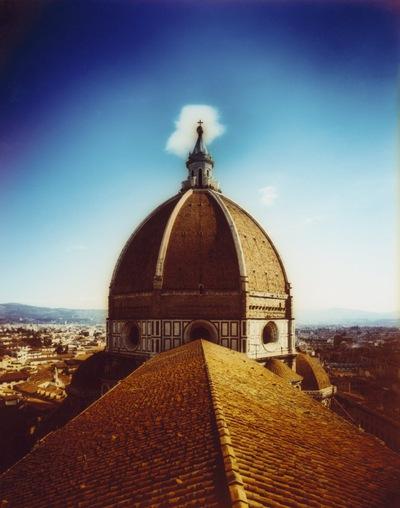 Cúpula de la catedral de Santa María del Fiore de Florencia, obra de Brunelleschi, del siglo XV.-