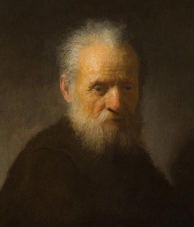 La obra de Rembrandt 'Retrato de un anciano con barba'.-