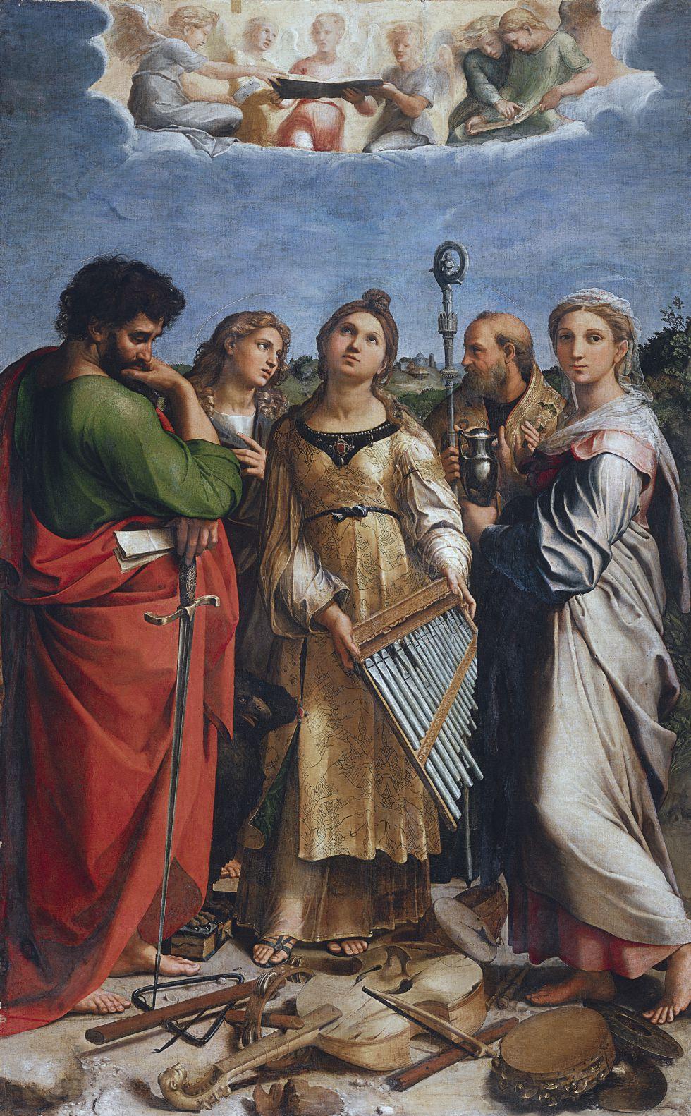 'Santa Cecilia', una de las piezas más interesantes de la exposición / PINACOTECA NACIONAL DE BOLONIA