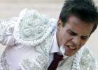 Gonzalo Caballero, herido en el pene al entrar a matar en Pamplona