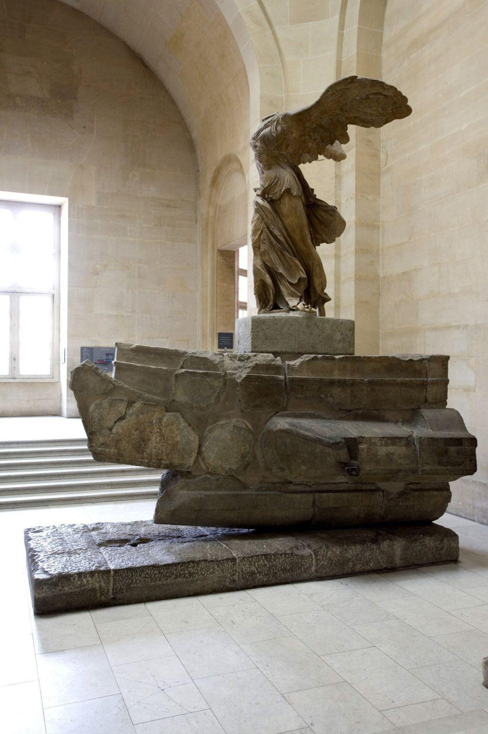 La 'Victoria de Samotracia', obra maestra de la escultura griega. EFE