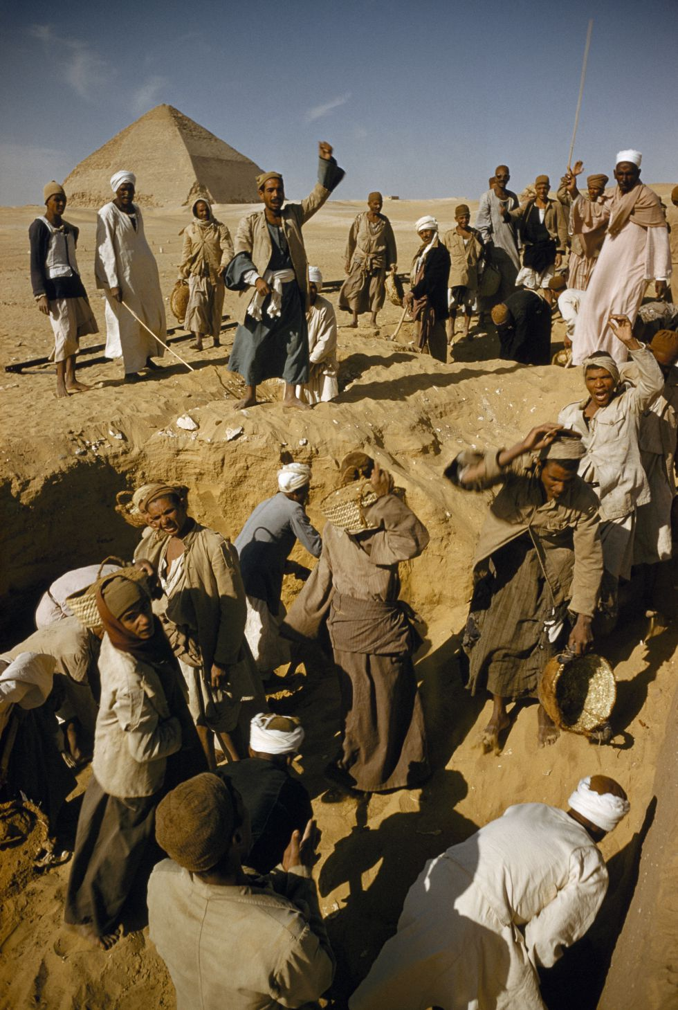 Excavaciones en el yacimiento de Dahshur. / DAVID BOYER (GETTY)