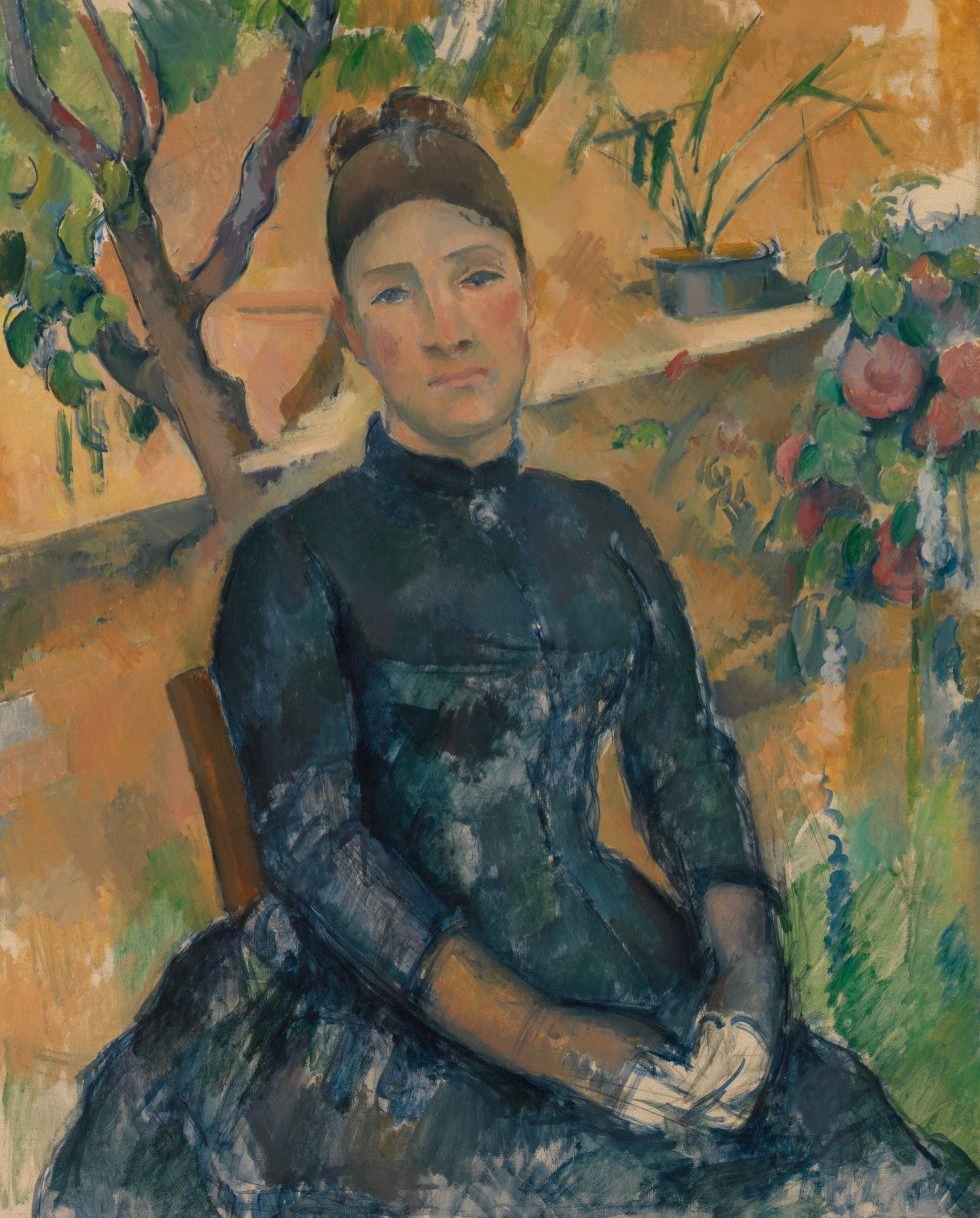 Madame Cézanne en el invernadero' (1891). / THE METROPOLITAN MUSEUM OF ART