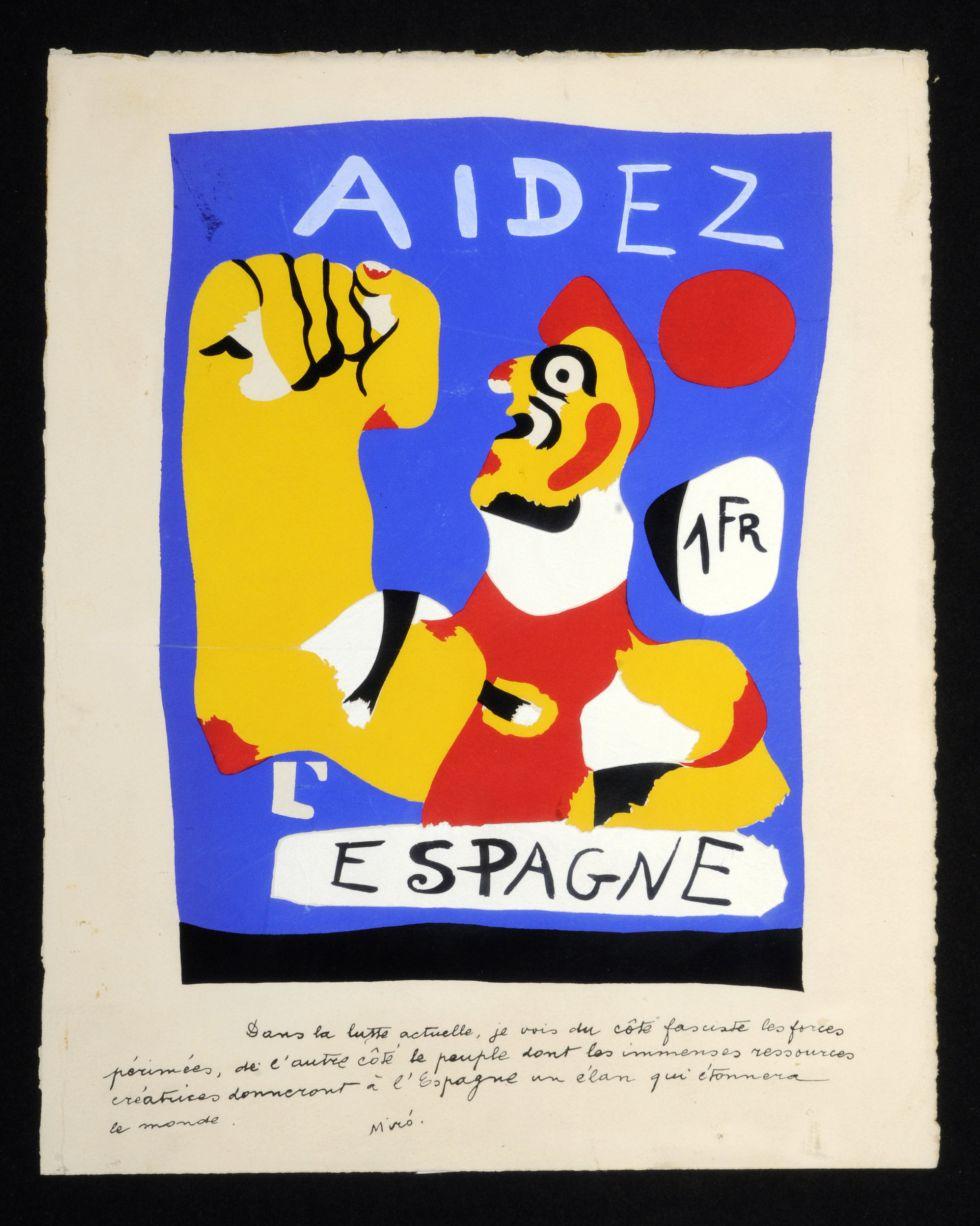 Cartel de Joan Miró que puede verse en la exposición.