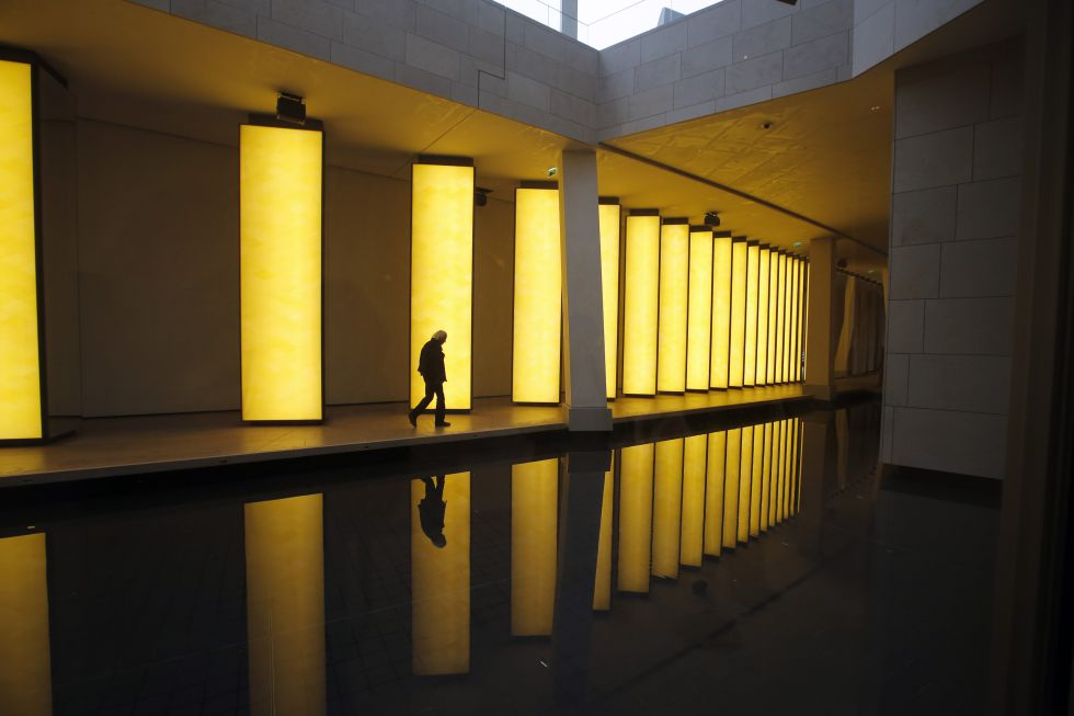 Vista de la exposición 'Contact' en la Fundación Louis Vuitton de París