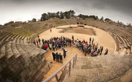 Suspendido el World Padel Tour en el anfiteatro de Mérida