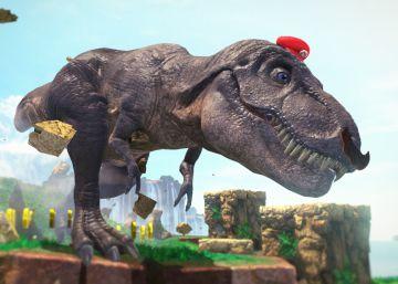 Cuando Super Mario fue tiranosaurio
