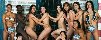 Equipos deportivos femeninos desnudos