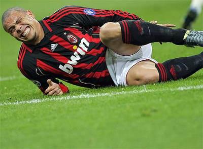 Ronaldo, en un partido con el Milan