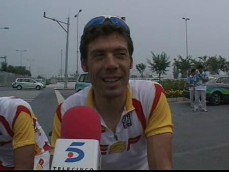 Óscar Freire, optimista de cara a lograr medalla en la prueba de ciclismo en ruta