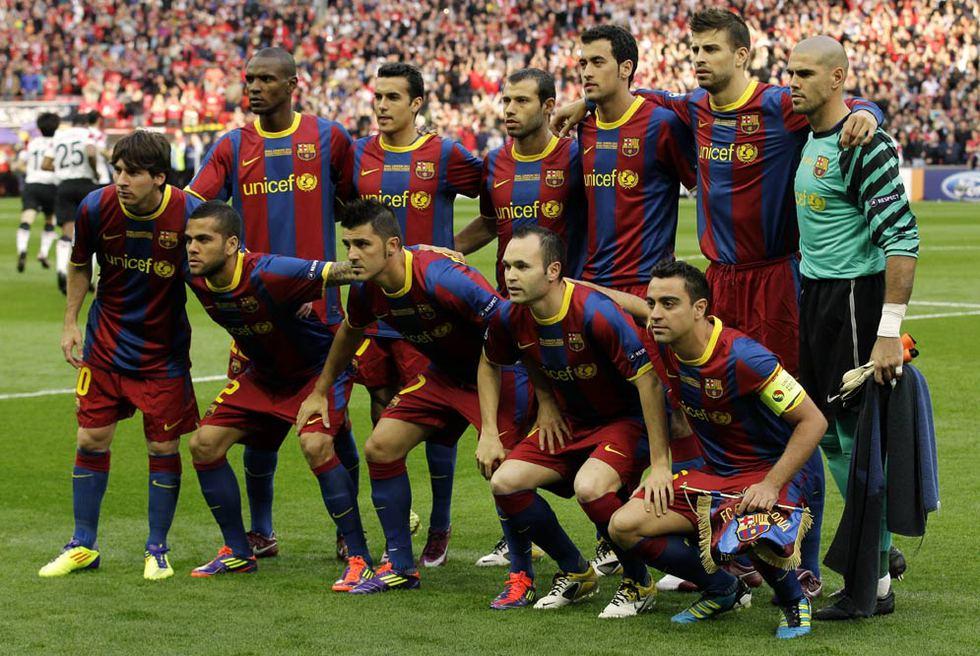 El »once» del Barça