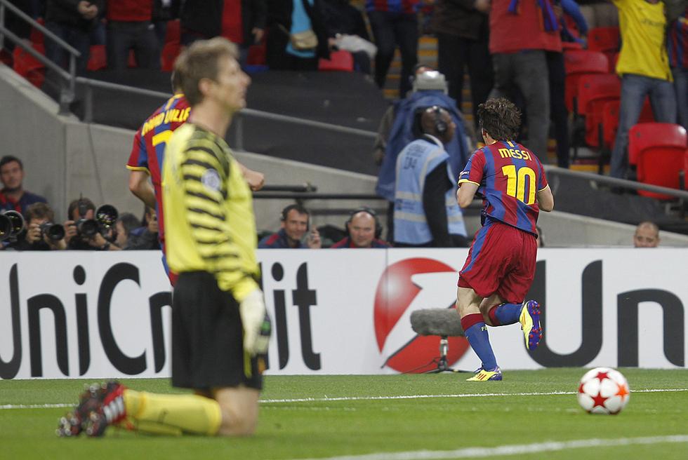 Barcelona - Manchester United  - Messi tumba al Manchester