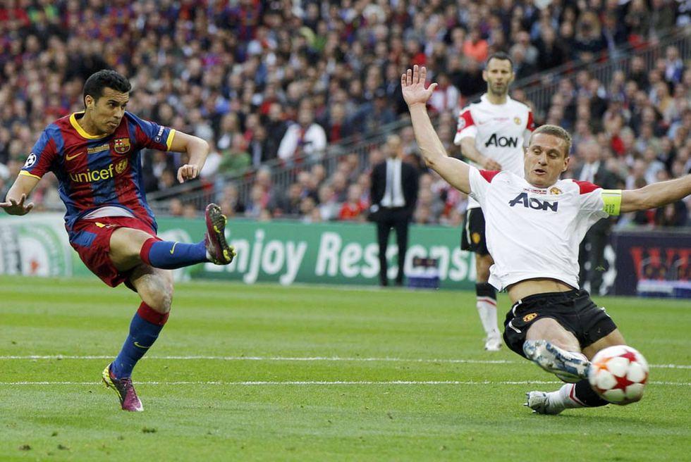 Barcelona - Manchester United  - Pedro abre la lata