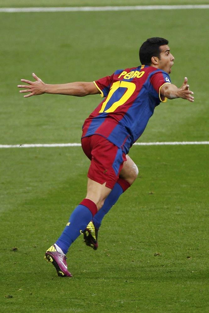 Barcelona - Manchester United  - El grito de Pedro