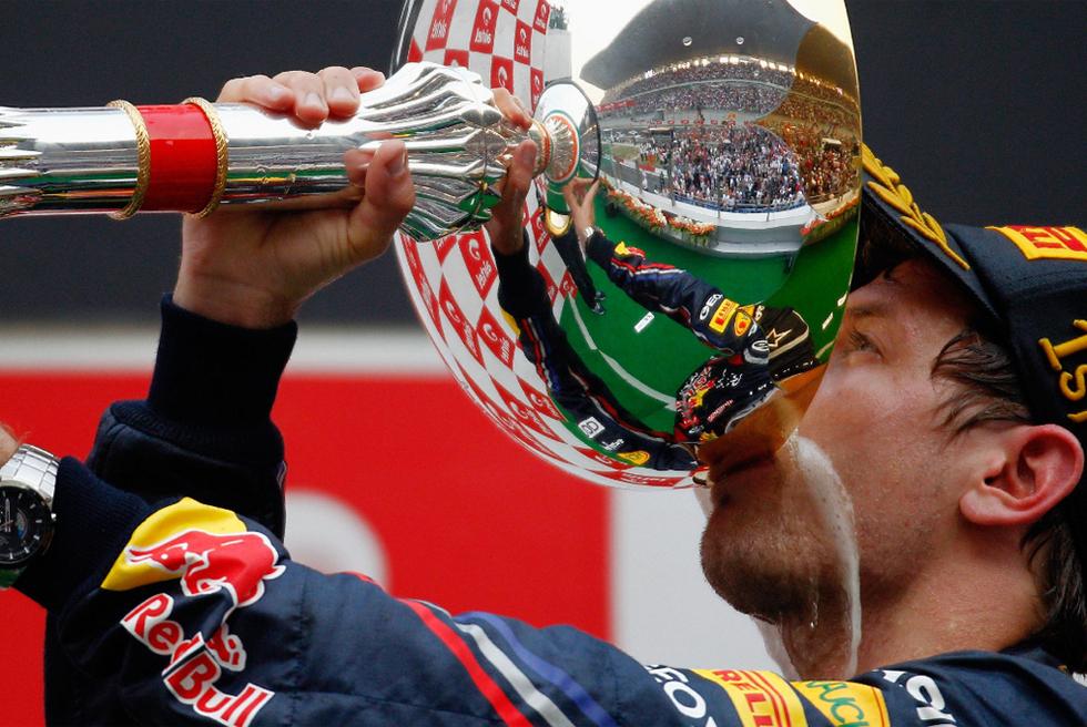El primer GP de India en imágenes  - Victoria de Vettel