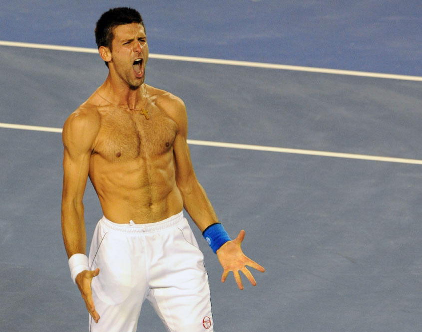 Djokovic grita de alegría