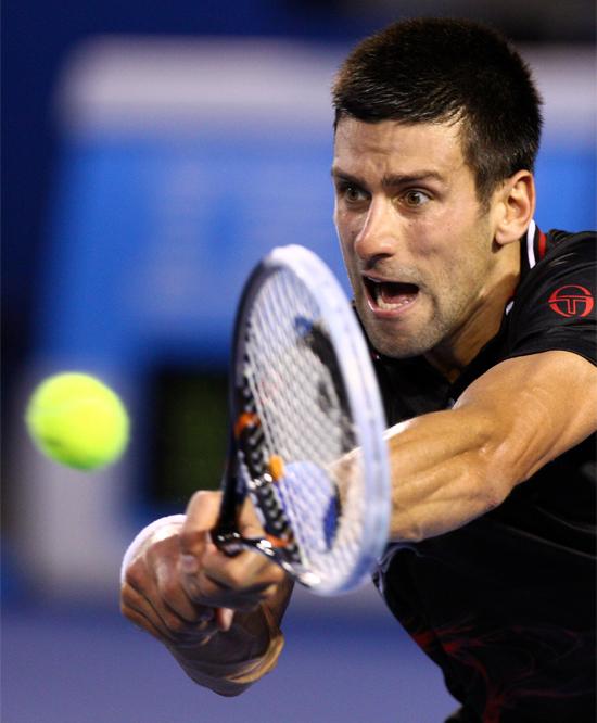 Reacción rápida de Djokovic