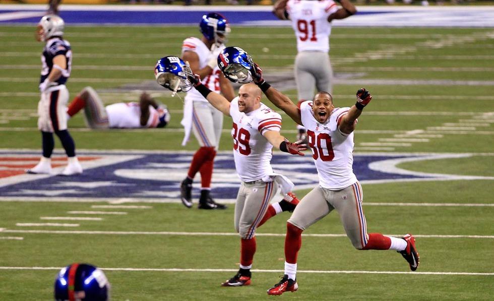 Los Giants de Nueva York ganaron a los Patriots de Boston (21-17