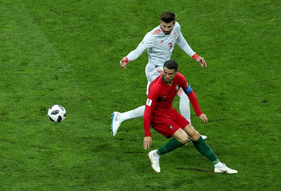 España y Portugal empatan en un partido frenético