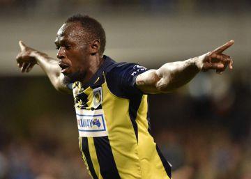 Usain Bolt se estrena como goleador con un 'doblete'