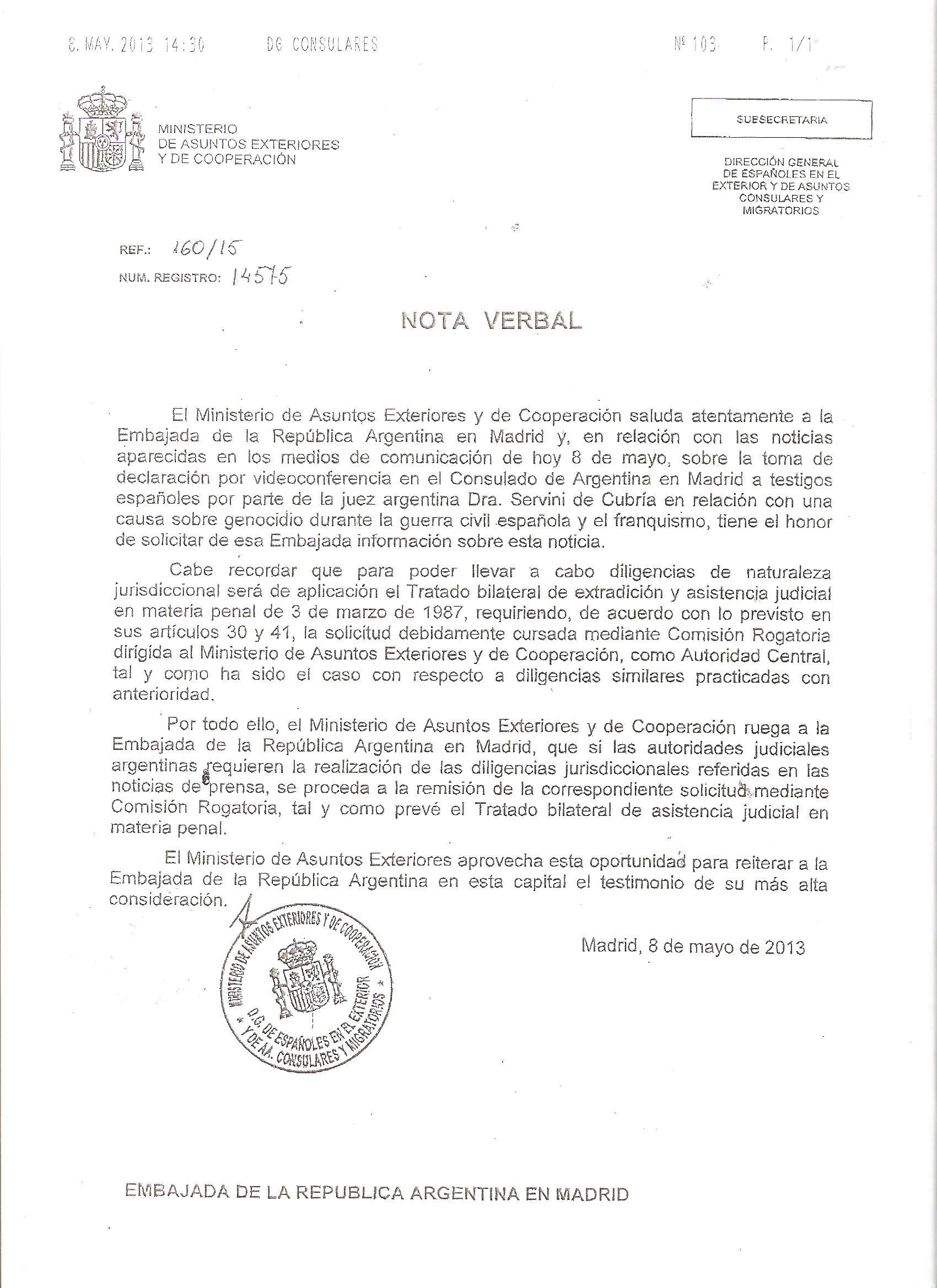 Iu pide a margallo que explique el veto a la declaraci n for Oposiciones ministerio de exteriores