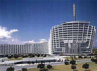 imagen del proyecto de los arquitectos antonio y carlos lamela para la nueva sede operativa de