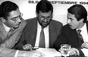 Gallardón, Rajoy y Aznar (1994)