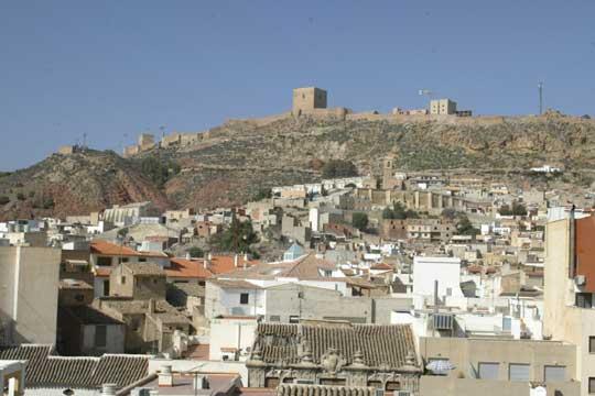 Vista panor mica de lorca con el castillo al fondo - Lorca murcia fotos ...