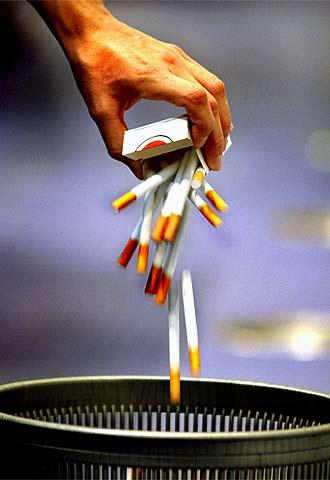 Beneficio inmediato al dejar de fumar.