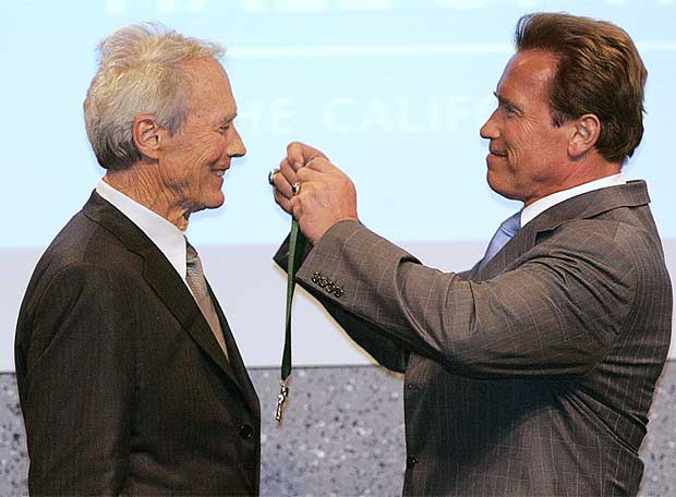 ¿Cuánto mide Clint Eastwood? - Real height Eastwood_Schwarzenegger