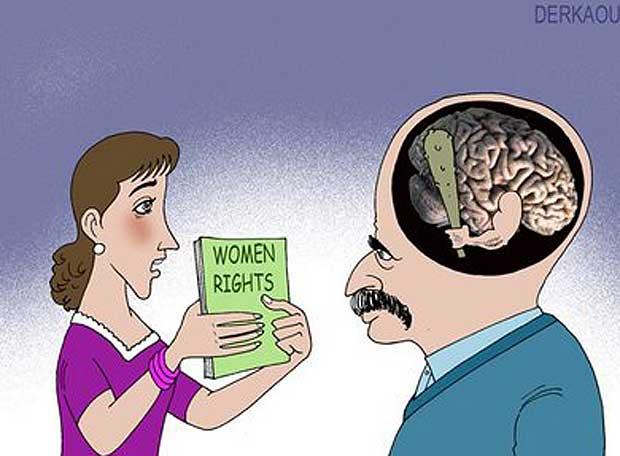 Viñeta por los derechos de la mujer