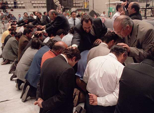 Bendición de pastores de la Iglesia evangélica