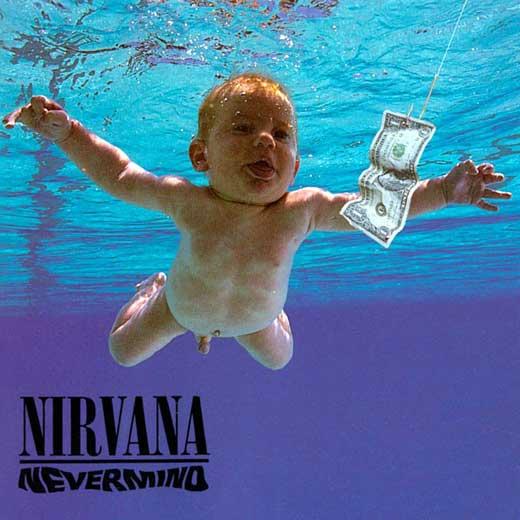 Facebook retira la portada de un álbum de Nirvana de hace 20 años